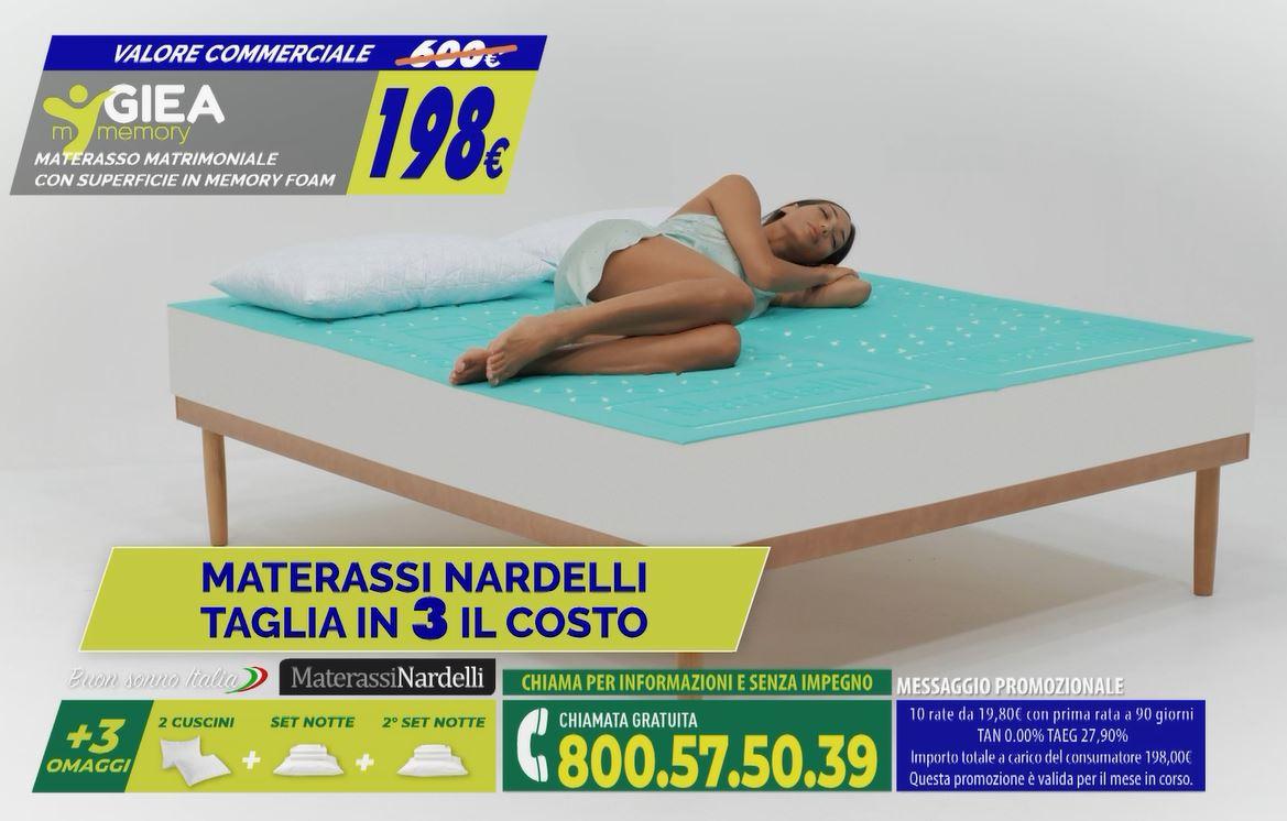 Offerte Materassi Memory Matrimoniali A Soli 198